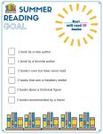 Summer Reading Goal Model