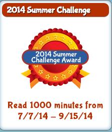 2014 Summer Reading Challenge Badge
