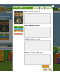Bookopolis Book Report Screenshot