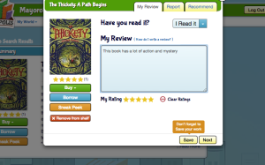 Bookopolis Book Review Screenshot