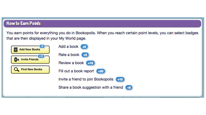 How to Earn Points in Bookopolis