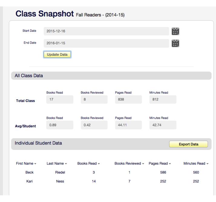 New Class Snapshot (Jan 16)