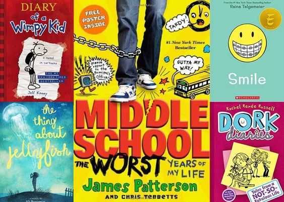 16 books for middle schoolers