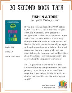 BOOK TALK - Fish in a Tree (1)