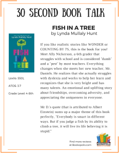 BOOK TALK - Fish in a Tree (1)