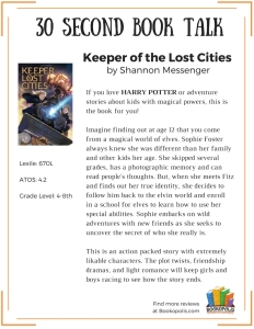 BOOK TALK - Keeper of the Lost Cities